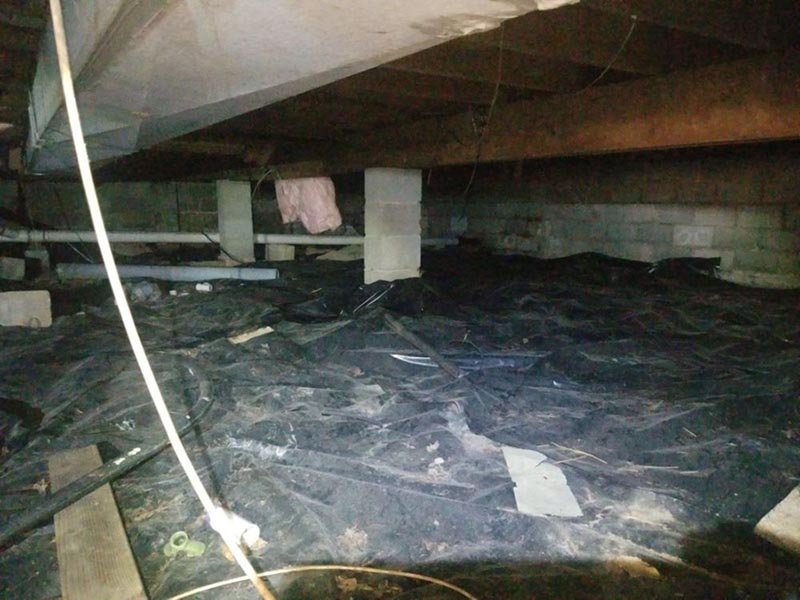 Before-Crawl Space Before and After